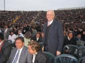 El presidente de la misión Perú Lima Oeste, Pdte. Dorius, estuvo presente, desde muy temprano en el evento.