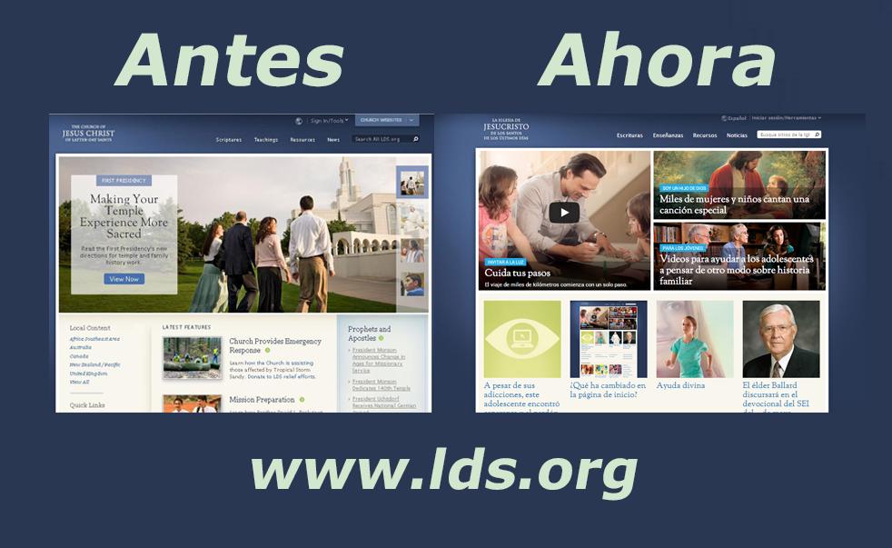 Por qué la página de inicio de LDS.org es diferente? | ZONA MORMÓN
