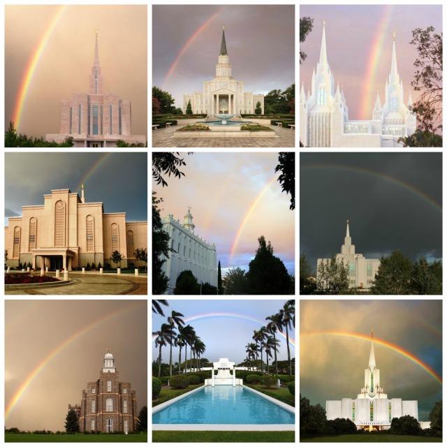 Disfrute de esta selección de imágenes de Templos acompañados de un arco iris.